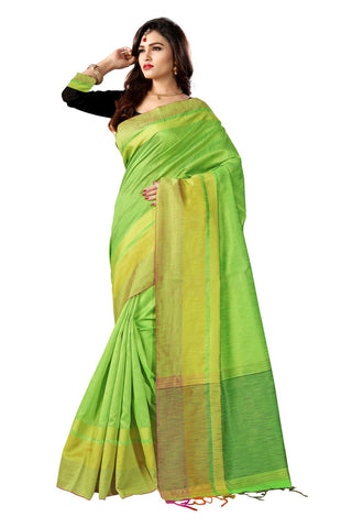 Green Color Banglori Silk Saree  - YNF-28532
