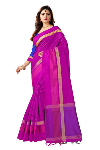 Pink Color Banglori Silk Saree  - YNF-28533