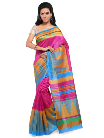 Pink Color Bhagalpuri Saree  - YNF-28561