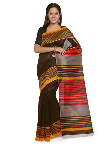Coffee Brown Color Bhagalpuri Saree  - YNF-28566