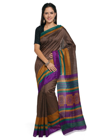 coffee brown saree Color Bhagalpuri Saree  - YNF-28571