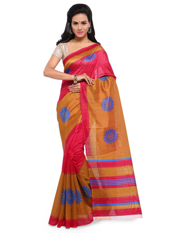 Pink Color Bhagalpuri Saree  - YNF-28574