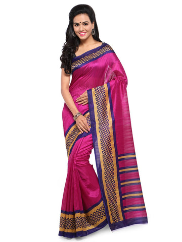 Magenta Color Bhagalpuri Saree  - YNF-28576