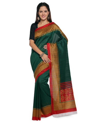 Green Color Bhagalpuri Saree  - YNF-28583