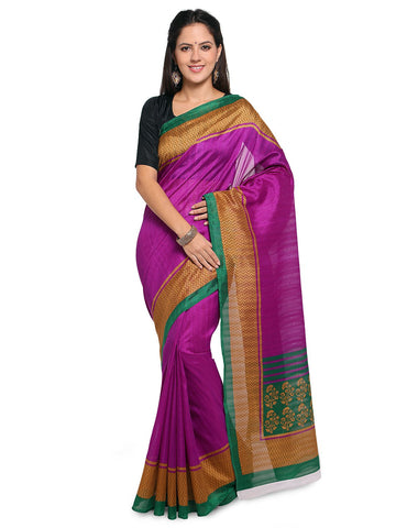 Magenta Color Bhagalpuri Saree  - YNF-28584