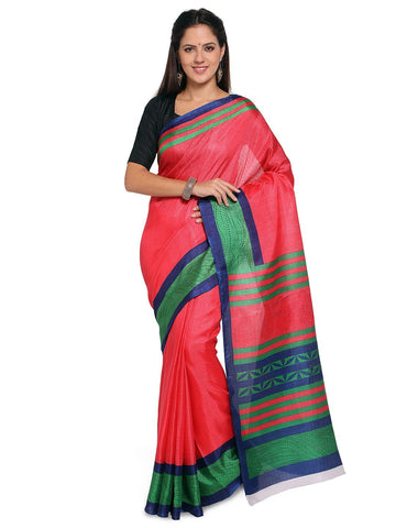 Pink Color  Saree  - YNF-28586