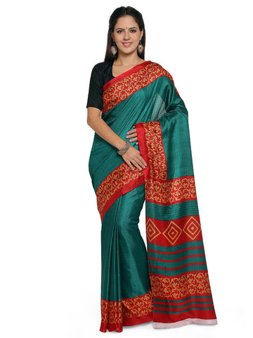 Green Color  Saree  - YNF-28587