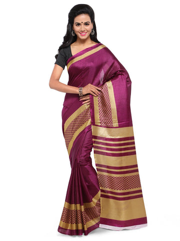 Magenta Color Khadi Saree  - YNF-28589