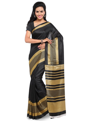 Black Color  Saree  - YNF-28590