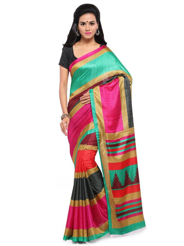Multi Color  Saree  - YNF-28591