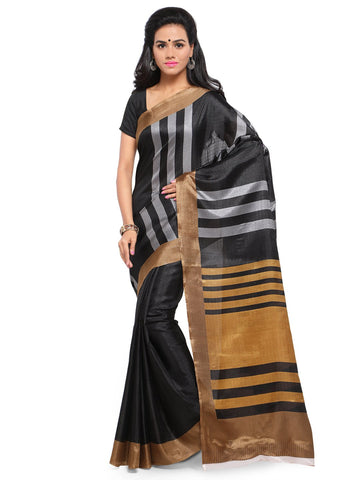 Black Color Khadi Saree  - YNF-28595