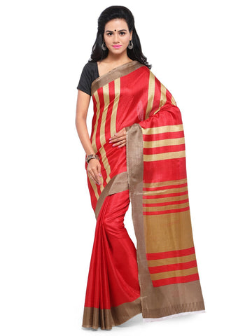 Red  Color  Saree  - YNF-28596