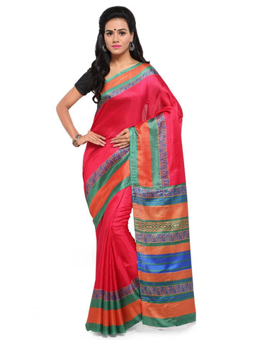 Pink Color  Saree  - YNF-28598