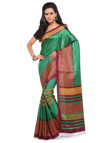 Green Color  Saree  - YNF-28600