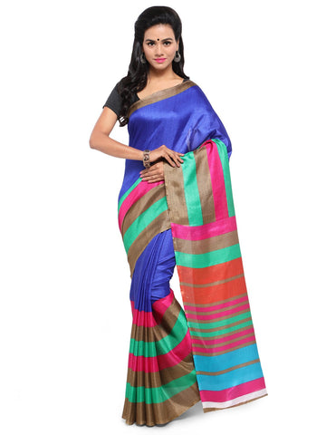 Blue Color Khadi Saree  - YNF-28606