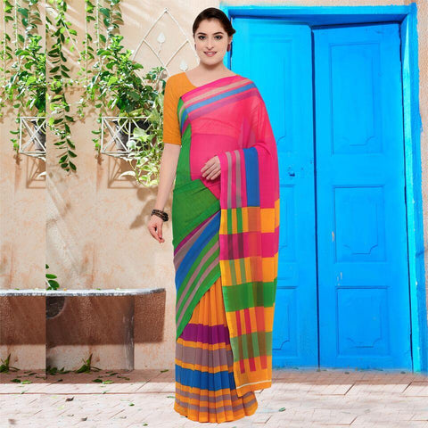 Multi Color Georgette Saree - YNF-28612