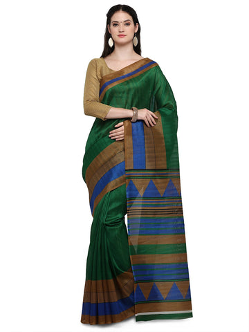 Green Bhagalpuri Saree - YNF-28642