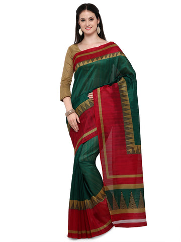 Green and Red Bhagalpuri Saree - YNF-28658