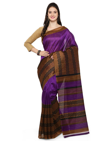 Purple Bhagalpuri Saree - YNF-28667
