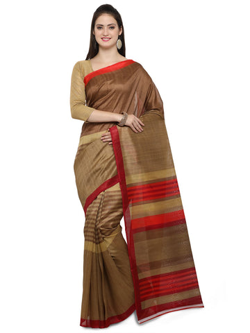 Brown Bhagalpuri Saree - YNF-28676
