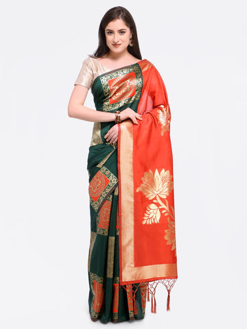 Green Color Art Silk Saree - YNF-28794