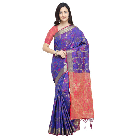 Blue Color Banarasi Silk Saree - YNF-28969