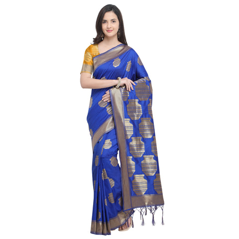 Blue Color Banarasi Soft Art Silk Saree - YNF-29140