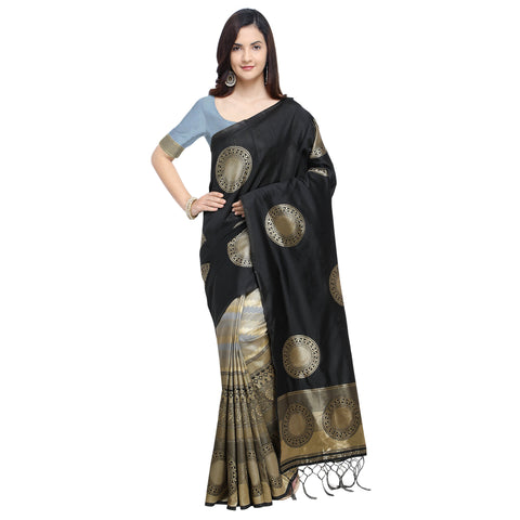 Black Color Banarasi Art Silk Saree - YNF-29210