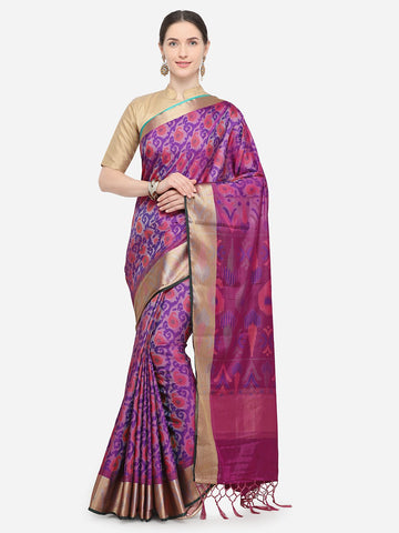 Purple Color Nylon Soft Silk Saree - YNF-29333