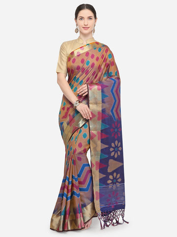 Brown Color Nylon Soft Silk Saree - YNF-29334