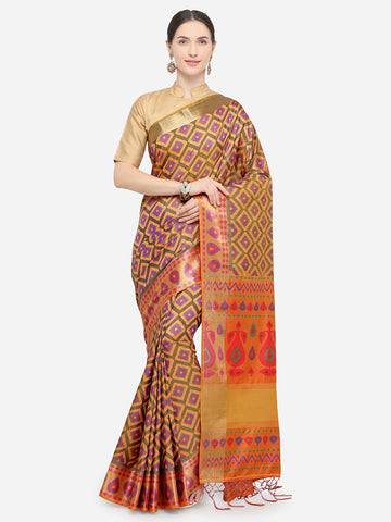 Beige Color Nylon Soft Silk Saree - YNF-29335