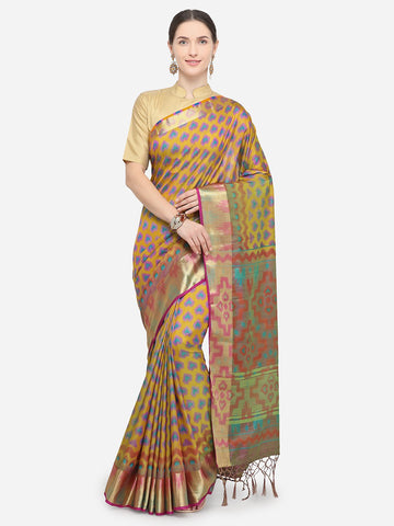 Beige Color Nylon Soft Silk Saree - YNF-29340