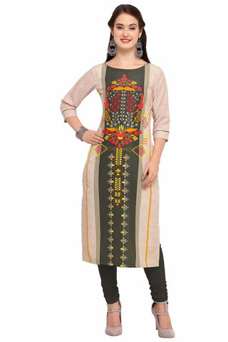 Multi Color Crepe Women's Stitched Kurti - YOYO-3209