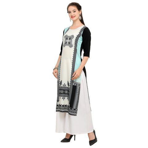 Multi Color Crepe Women's Stitched Kurti - YOYO-3210