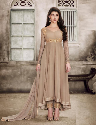 Chiku Color Faux Georgette Semi Stitched Salwar - YOYO-F1136