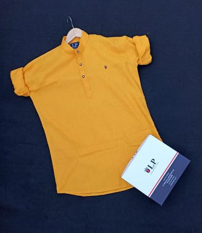 Yellow Color Kurta-1ABF-YK