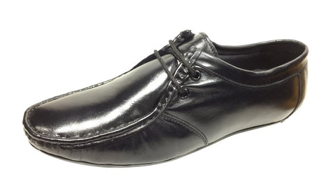 Black Color Leather Tpr Men's Formal Shoes - Z-1201-Black