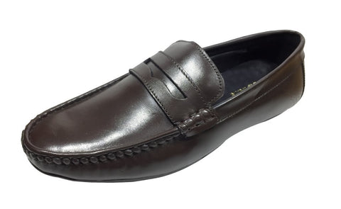 Brown Color Leather Tpr Men's Formal Shoes - Z-1202-Brown