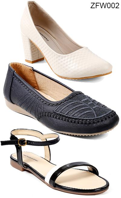 Buy COMBO - Multi Color Synthetic And Synthetic Leather Women FootWear