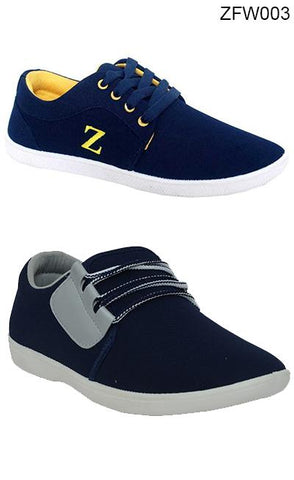 COMBOS-Blue Color Synthetic Mens Shoe - ZFW003