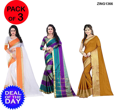 DOTD-ManiPuri Cotton and Cotton Silk Sarees - Mp-1-Musted , Anaya-Purple-Rama , M-Musted