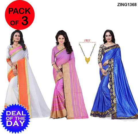 DOTD-Manipuri  ,Poly Cotton and TamTam Sarees - MP-2-Orange , Pc-212  ,Tamtam-Blue