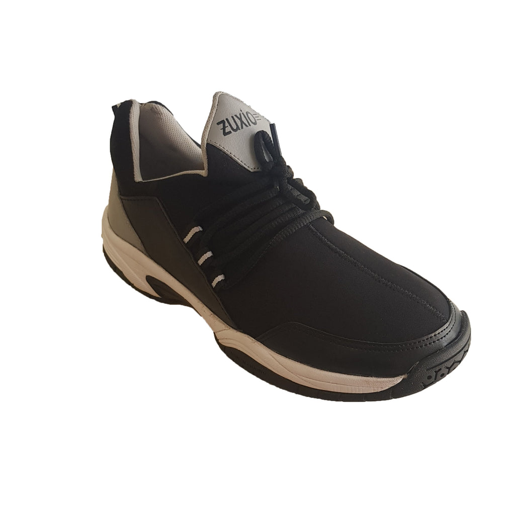 Buy Black Color Leatherette Men's Basketball Shoes