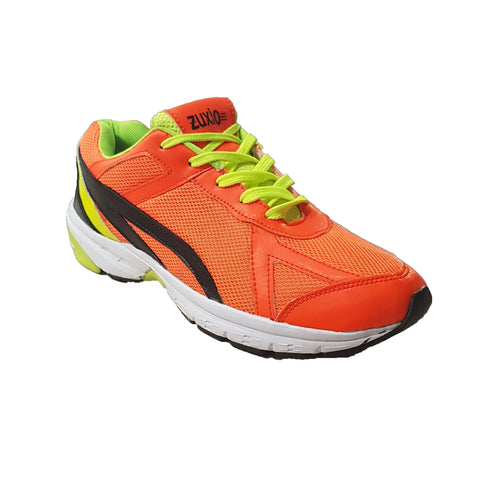Orange Color Leatherette Men's Basketball Shoes - ZUXIObasketballOrange