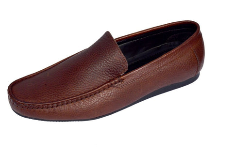 Brown Color Leather Mens Loafer - ZUXIOmodel18312-Brown