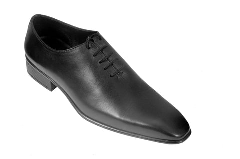 Black Color Leather Mens Derby - ZUXIOmodel18411-Black