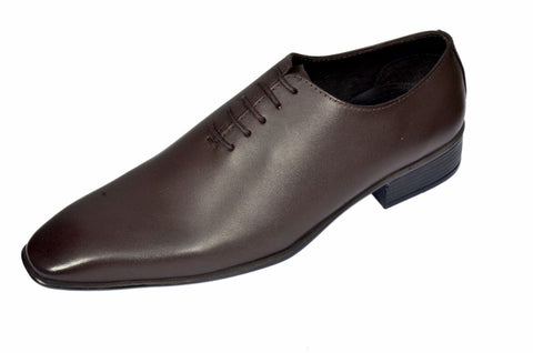 Brown Color Leather Mens Derby - ZUXIOmodel18411-Brown