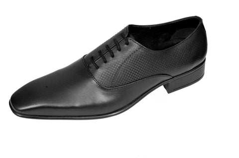 Black Color Leather Mens Derby - ZUXIOmodel18420-Black