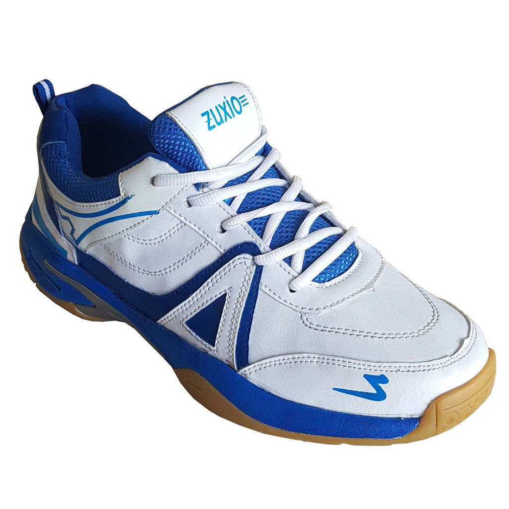 Buy White Color Synthetic MensBadminton