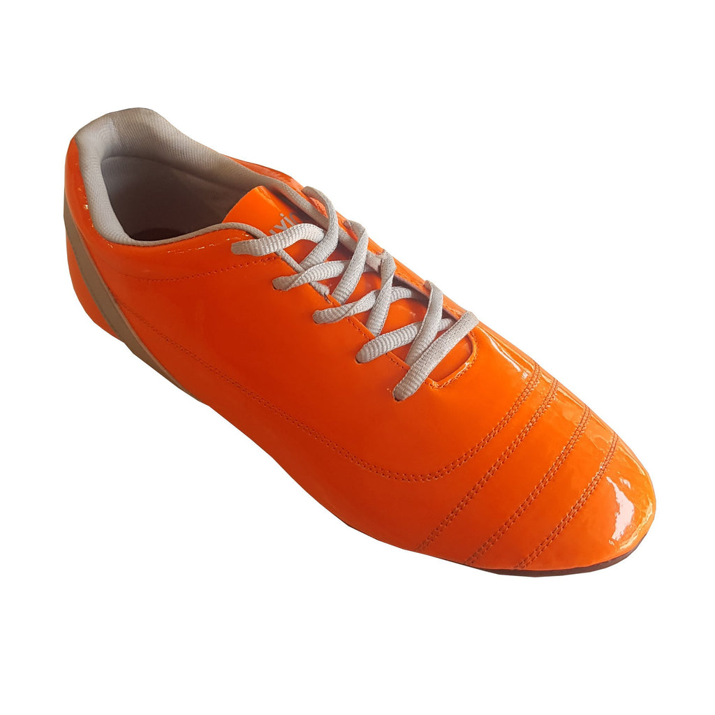 Buy Orange Color Synthetic Men Foot Ball Shoe